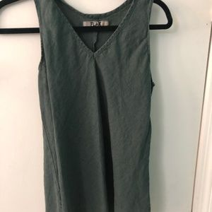 Flax sleeveless tank top